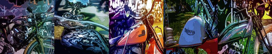 Sweden Digital Art - Bike Poster IIi by Mikael Jenei
