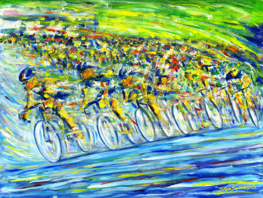 Bike Painting - Bike Race by Stan Sweeney