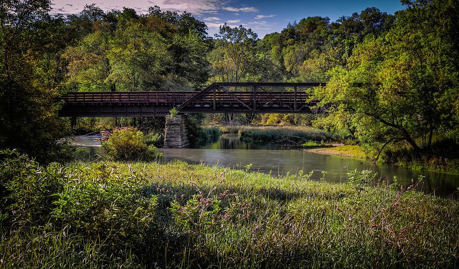 Bike trail bridge near Lanesboro MN by Al  Mueller