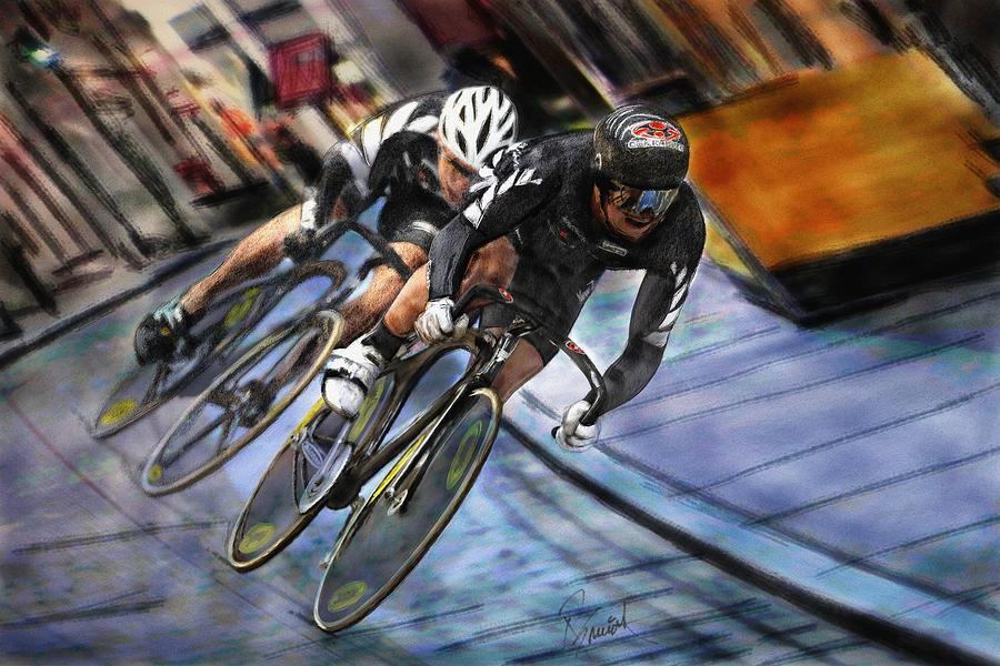 Bikes Painting - Bikers by Robert Smith