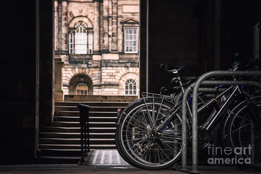 University Photograph - Bikes And University by Jane Rix