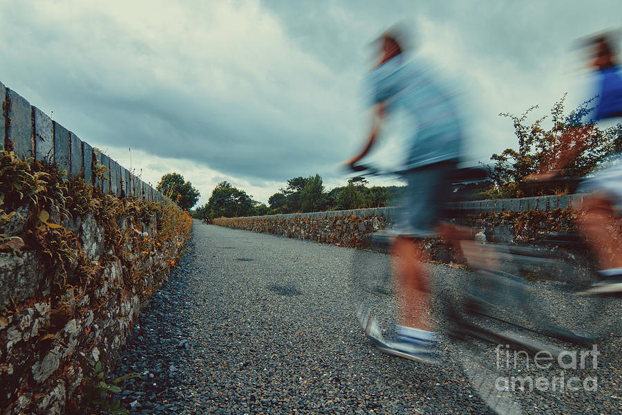 Bikes Photograph - Bikes In Motion Near Durrow 1 by Marc Daly