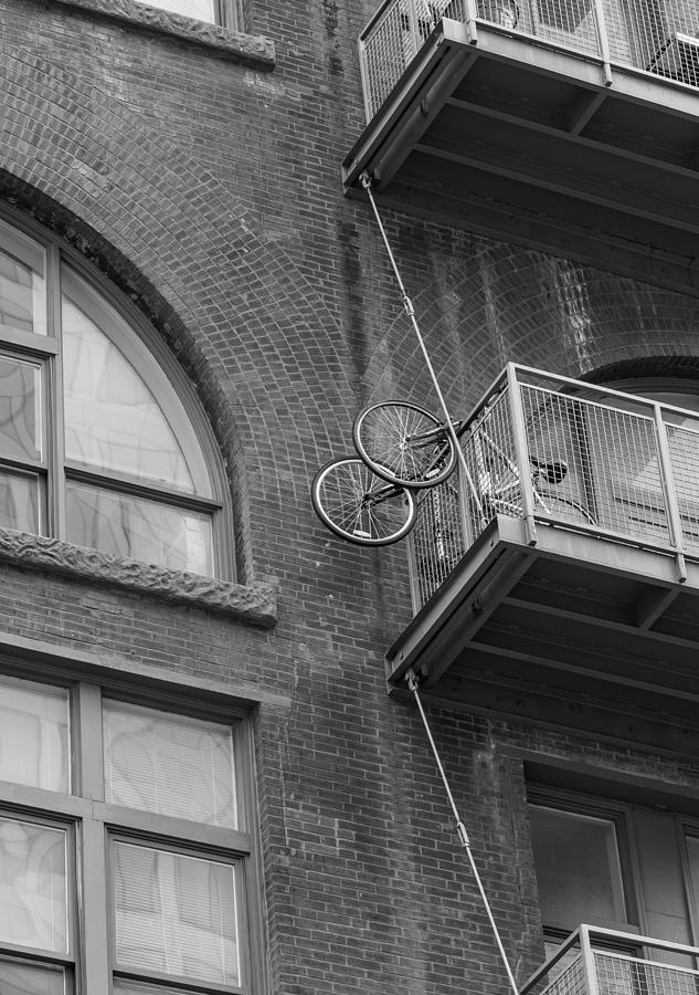Bicycle Photograph - Bikes On Balcony by Denise McKay