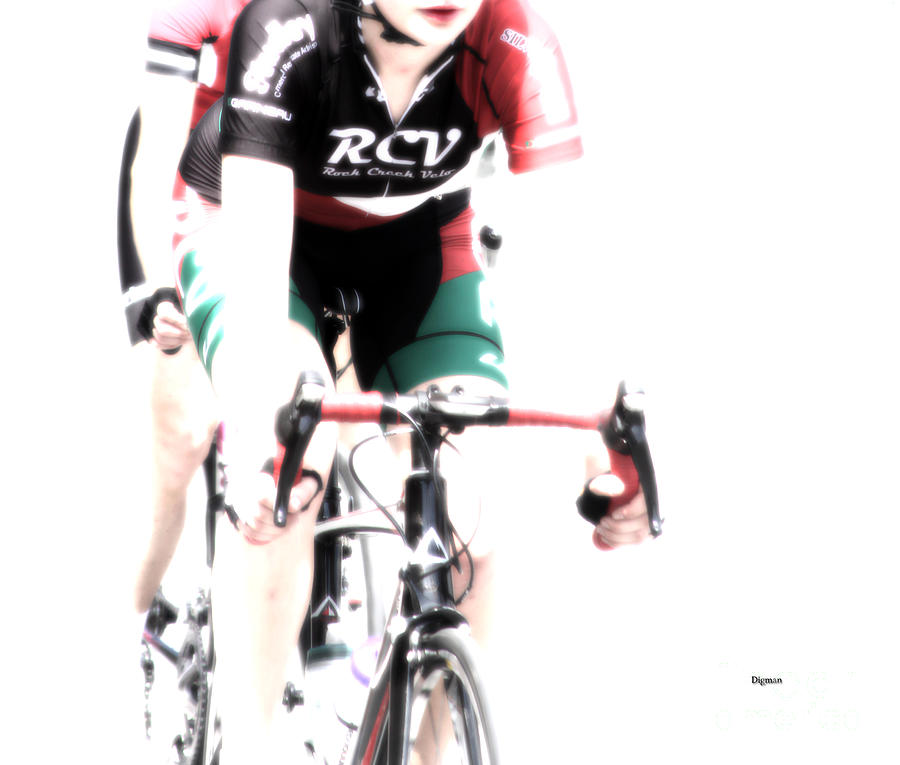 Bicycle Photograph - Biking In Her Rcv by Steven Digman
