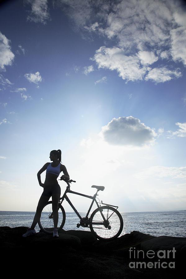 Athlete Photograph - Biking Silhouette by Brandon Tabiolo - Printscapes