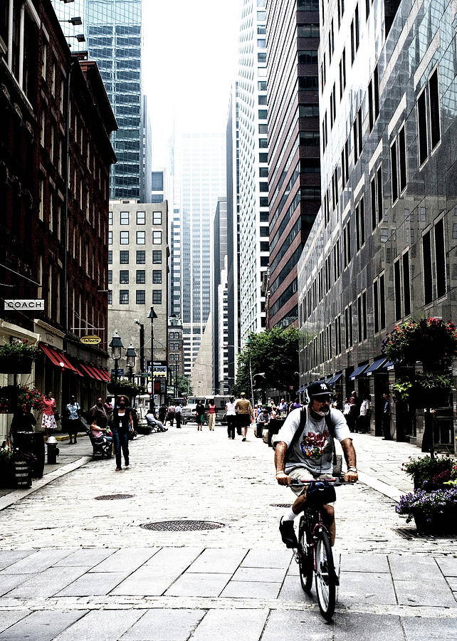 New York Photograph - Biking The Streets Of New York City by Susan Stone