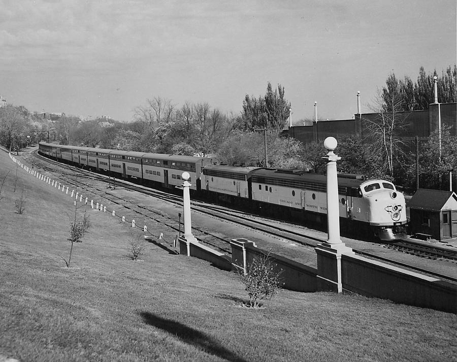 Passenger Trains Photograph - Bilevel 400 at Lake Front Depot by Chicago and North Western Historical Society