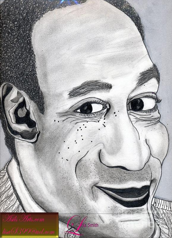 Actor Drawing - Bill Cosby by Asils Arts Lisa