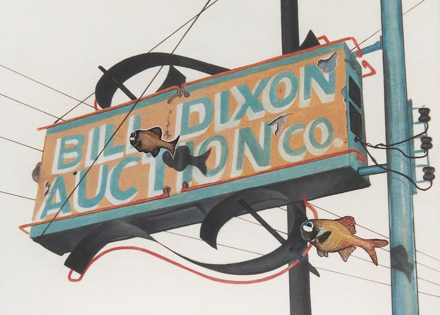 Cityscape Painting - Bill Dixon Auction by Van Cordle