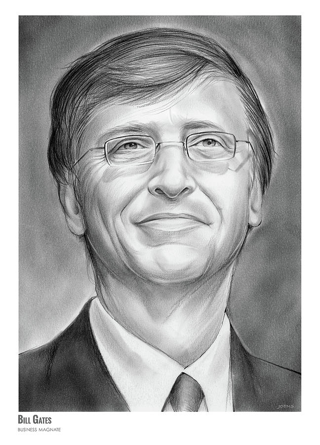 Bill Gates Drawing