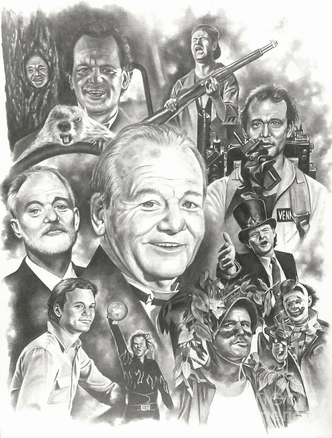 Bill Murray Drawing - Bill Murray by James Rodgers
