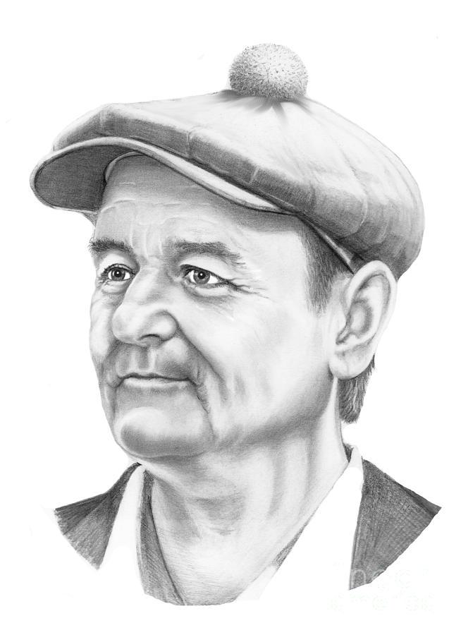 Drawing Drawing - Bill Murray by Murphy Elliott