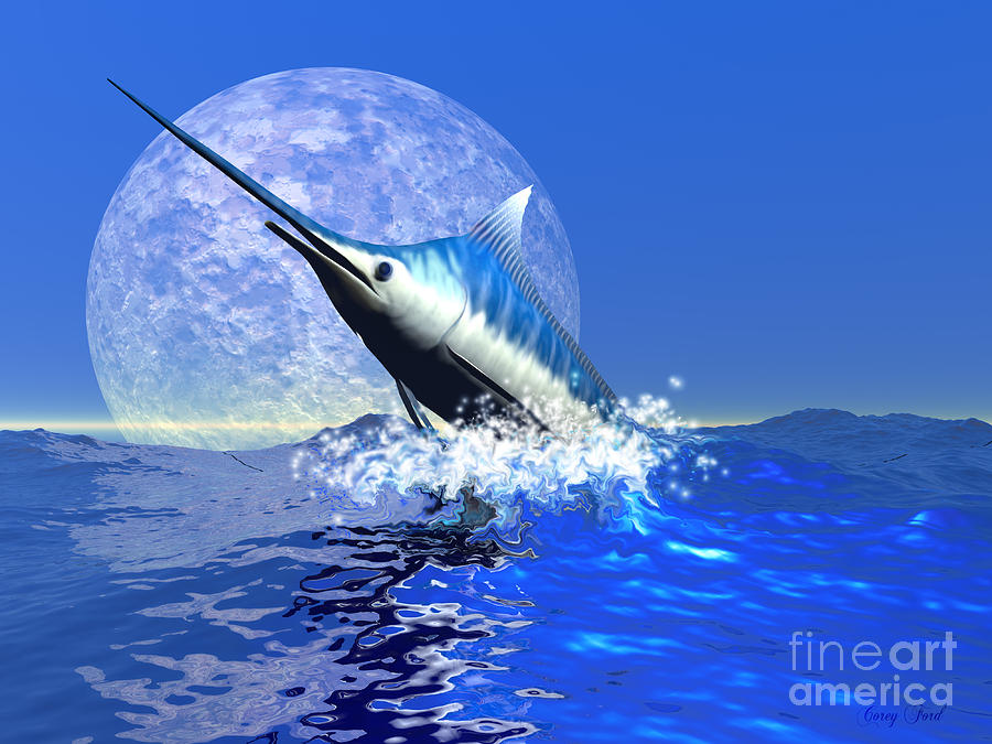 Blue Marlin Painting - Billfish  by Corey Ford