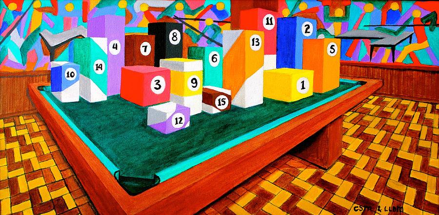 Billiard Painting   Billiard Table By Cyril Maza