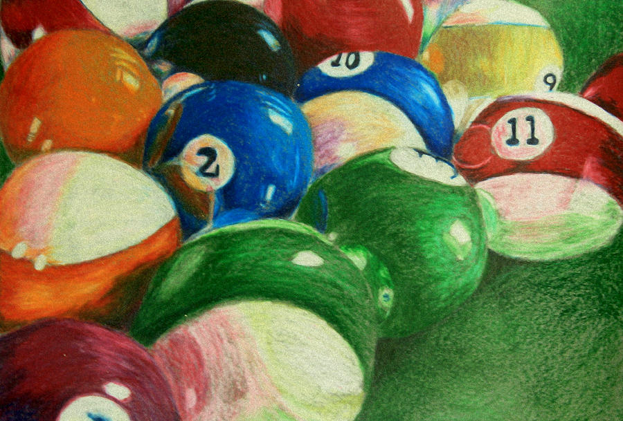 Pool Painting - Billiards Time by Robert Hodgson