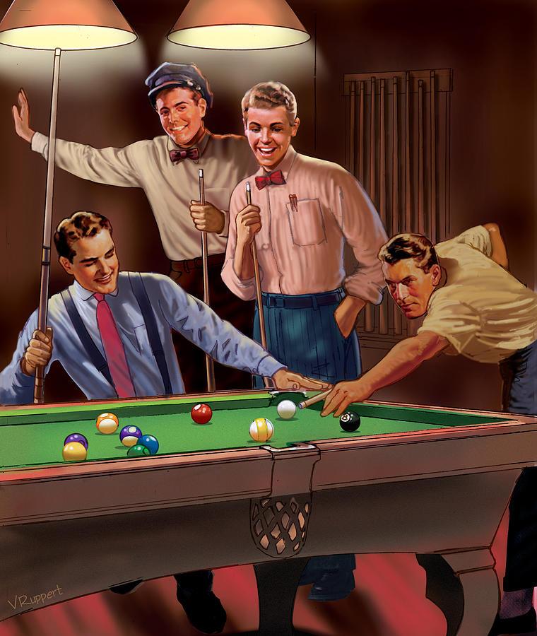 Pool Mixed Media - Billiards by Valer Ian