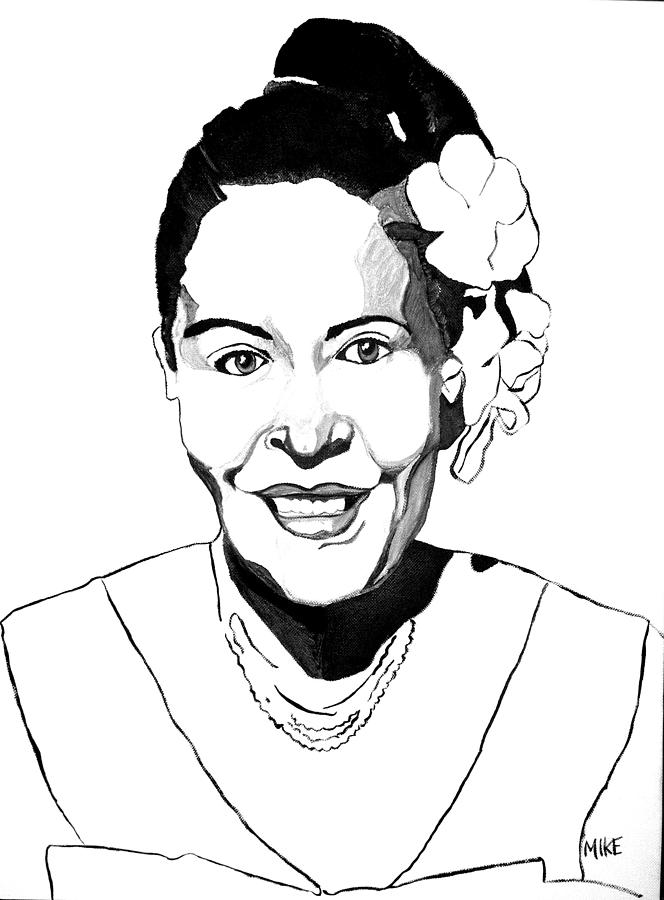Jazz Painting - Billie Holiday  I Hear Music by Michael Fields