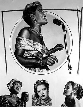 Billie Holiday Painting - Billie Holiday Lady Day  by Buena Johnson