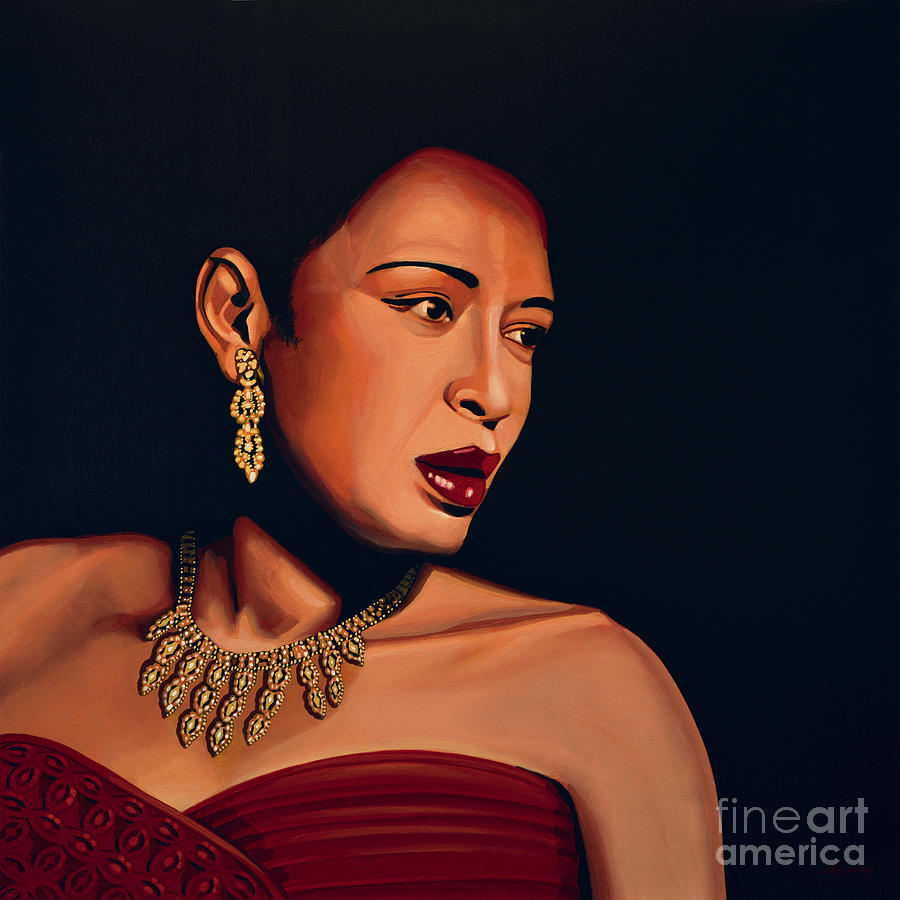 Billie Holiday Painting - Billie Holiday by Paul Meijering