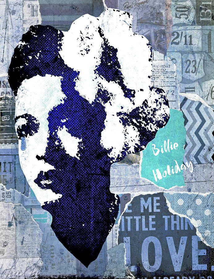 Billie Holiday Digital Art - Billie Holiday by Regina Wyatt