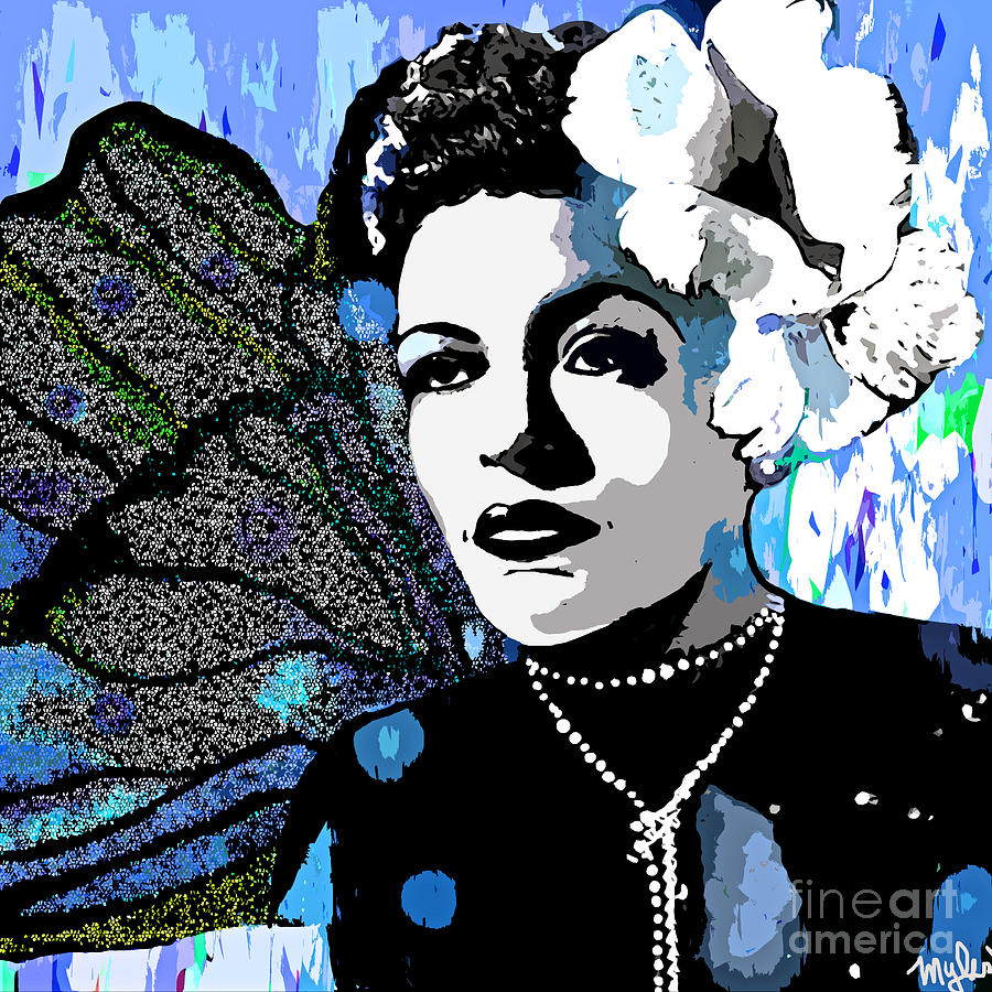 Billie Holiday Painting - Billie Holiday by Saundra Myles