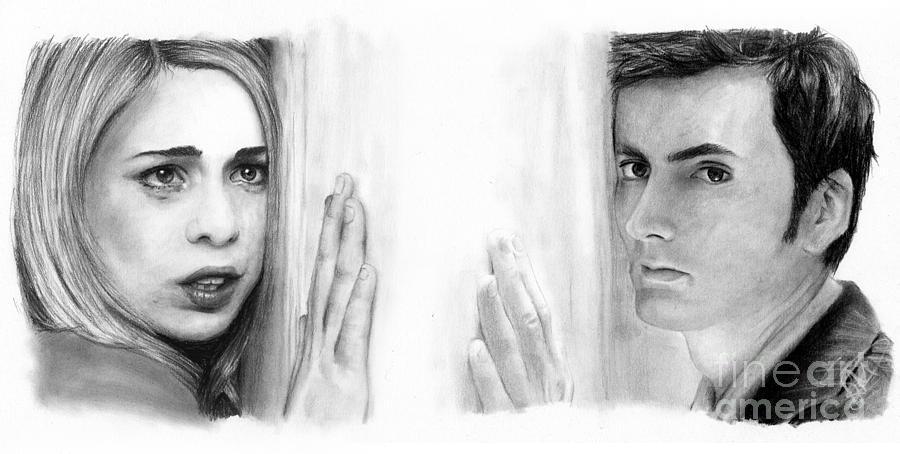 Billie Piper Drawing - Billie Piper And David Tennant by Rosalinda Markle