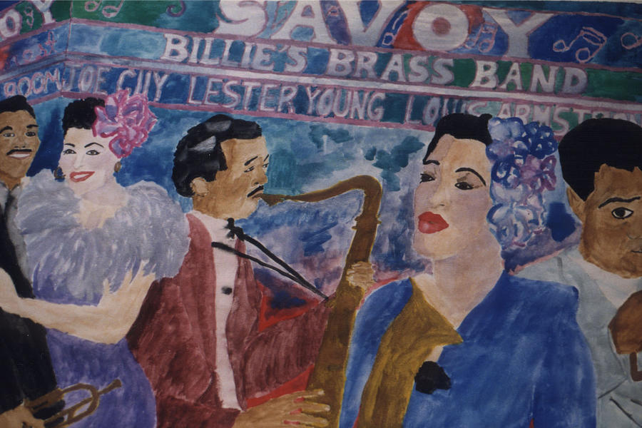 Billie Holiday Painting - Billies Brass Band by Rachel Natalie Rawlins