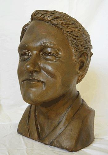 Bill Clinton Sculpture - Bill...mr. President by Tina Hariu