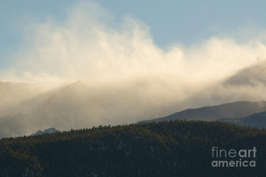 Billowing Snow On Pikes Peak Colorado Photograph