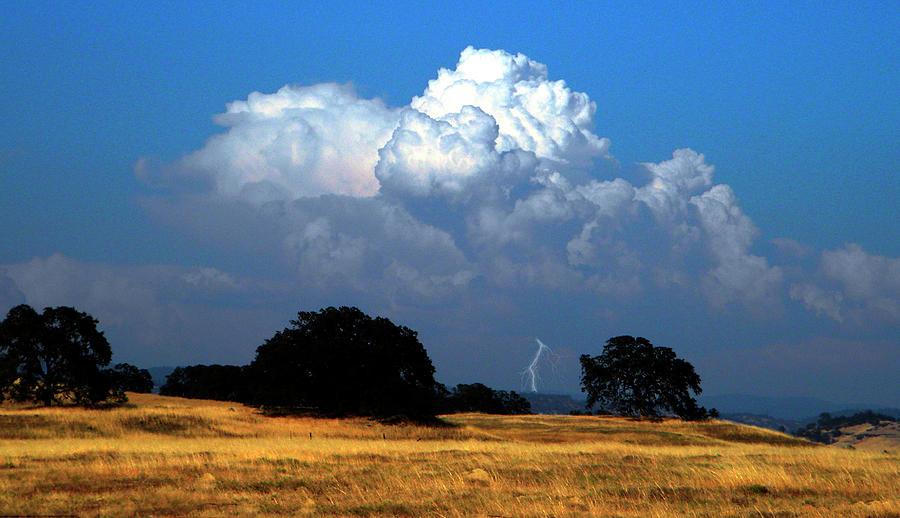 Lightning Photograph - Billowing Thunderhead by Frank Wilson