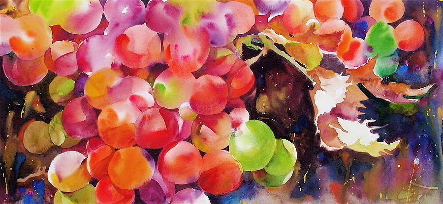 Landscape Painting - Bills Delicious Old Fashioned Grapes by David Lobenberg