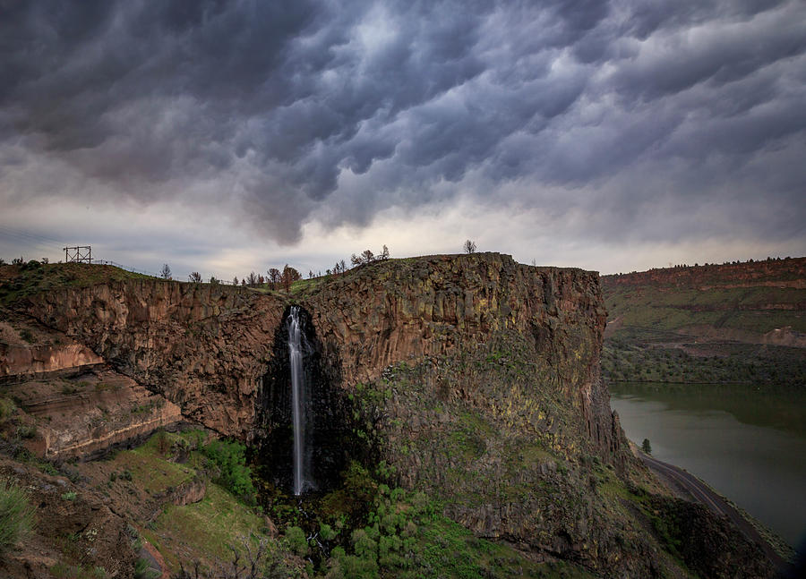 Waterfall Photograph - Billy Chinook Falls by Cat Connor