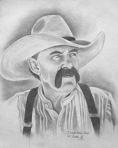 Tombstone Drawing - Billy Clanton by Patti  Jo