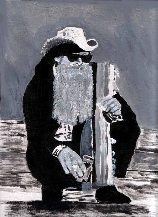 Billy Gibbons Painting by Eileen Martin