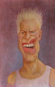 Billy Idol Painting - Billy Idol by Kristen Fischer