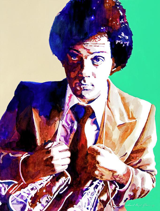 Billy Joel Painting - Billy Joel - New York State Of Mind by David Lloyd Glover