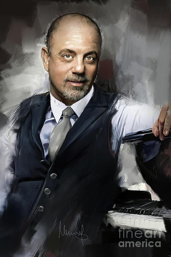 Billy Joel Painting - Billy Joel by Melanie D