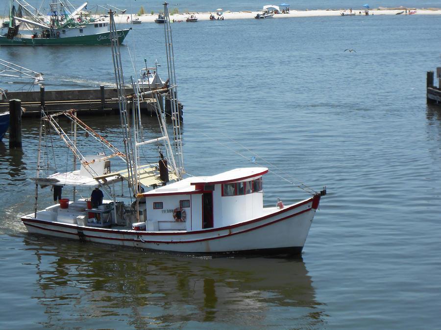 Fishing Photograph - Bilouxi Shrimp Boat by Cynthia Powell