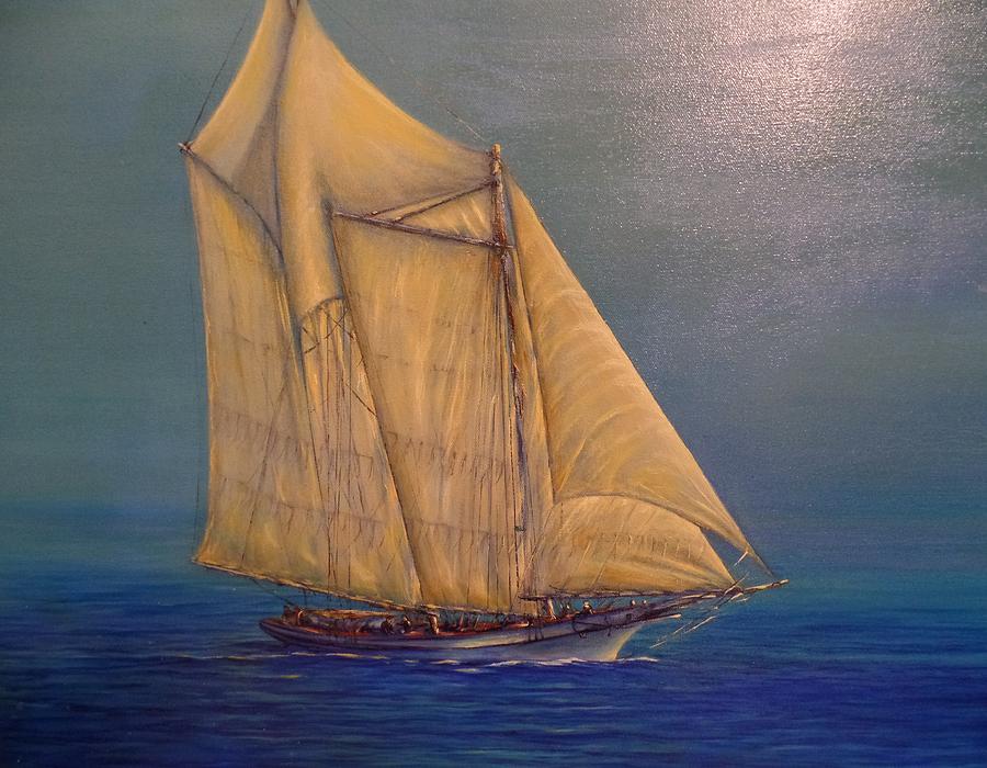 Biloxi Schooner Painting by Xavier Maumus