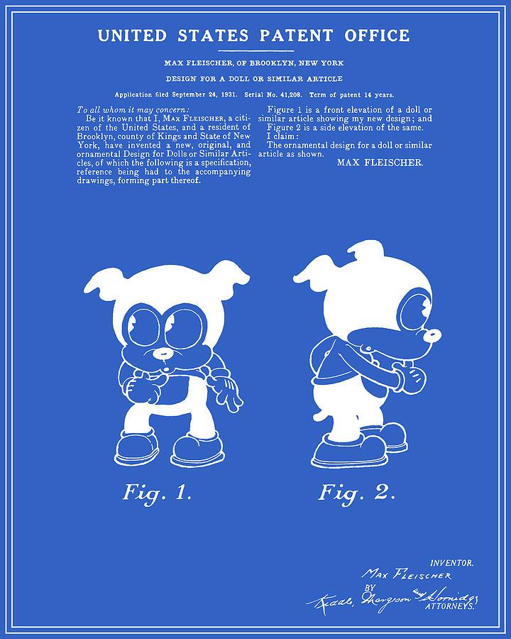 Bimbo patent blueprint digital art by finlay mcnevin patent digital art bimbo patent blueprint by finlay mcnevin malvernweather Images