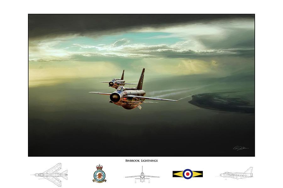 Aviation Digital Art - Binbrook Lightnings V2 by Peter Chilelli