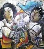 Couples Painting - Bind Us  by  Ni Wayan Handoko