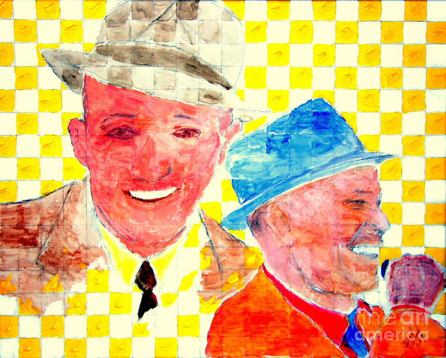 Movie Stars Painting - Bing Crosby And Frank Sinatra 1 by Richard W Linford
