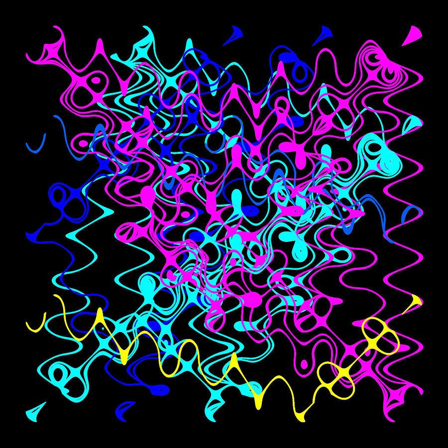 Abstract Digital Art - Bingo1-0-c by Ron Brown