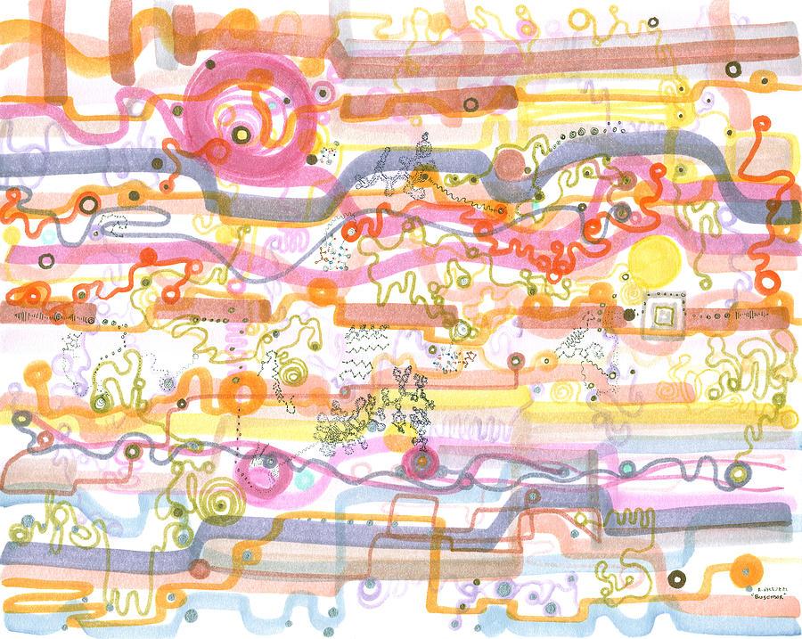 Chip Drawing - Biosensor by Regina Valluzzi