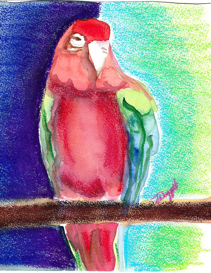 Bird Painting - Bipolar Bird by Janet Doggett
