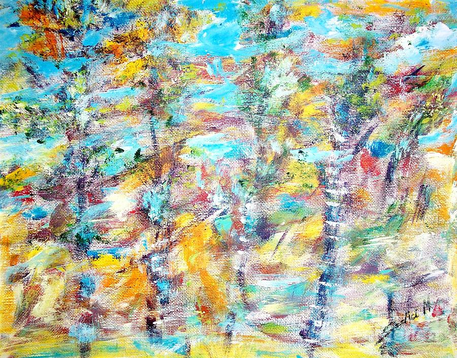 Fineart Painting - Birch Abstract  by Mary Sedici