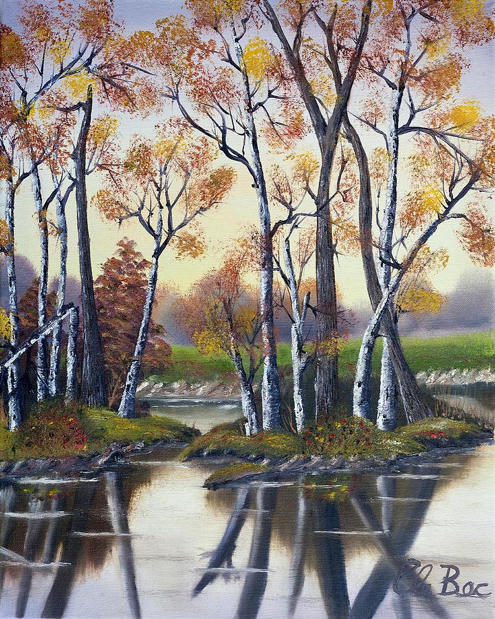 Birch Painting - Birch Bay Lagoon  by Claude Beaulac