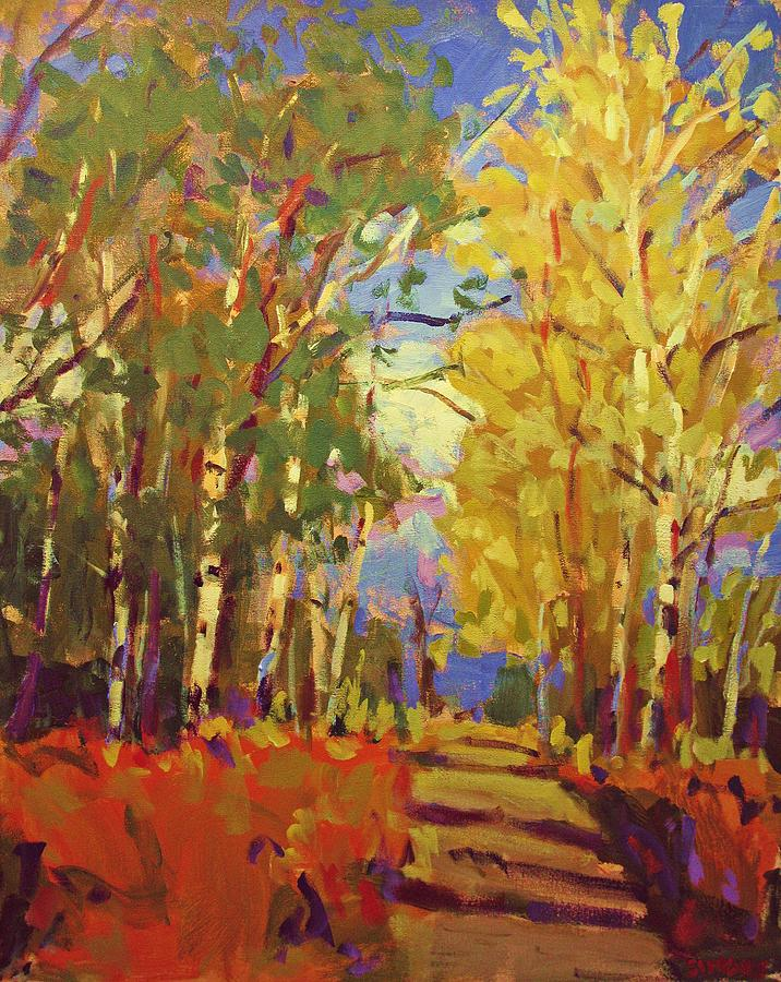Birch Tree Painting - Birch by Brian Simons