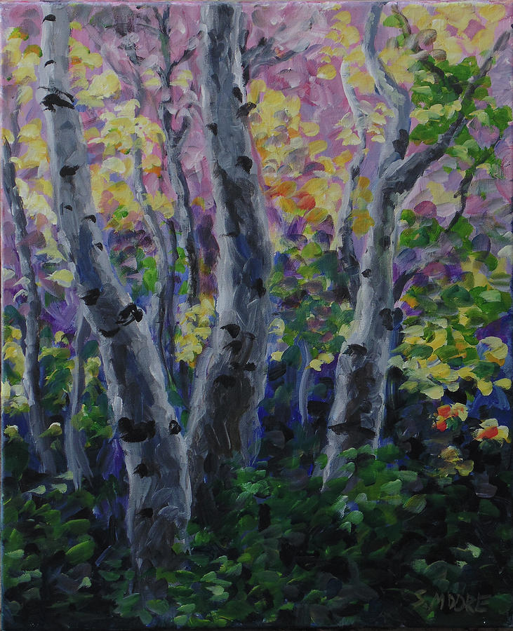 Trees Painting - Birch Folly by Susan Moore